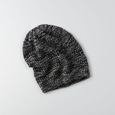 American Eagle Slouchy Pointelle Beanie ($16) ❤ liked on Polyvore featuring accessories, hats, beanies, grey, gray beanie hat, grey beanie, brimmed beanie, gray slouchy beanie and slouchy beanie hat