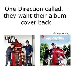 Speaking from a person in both fandoms, the Big Time Rush cover was taken before Take Me Home was released. Plus the cover wasn't even used I think. No hate, just sayin.
