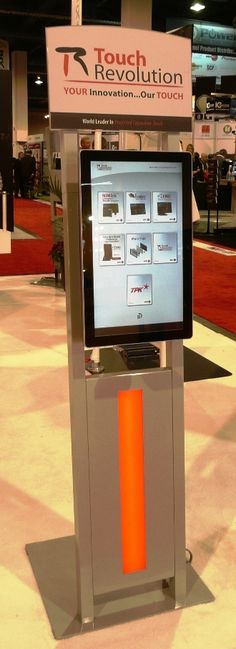 """The Sojourn """"URway"""" modular kiosk (Gen I), @ CES Touch Revolution (TPK) partner booth Kiosk, Revolution, Innovation, Product Launch, Indoor, Touch, Digital, Products, Interior"""