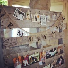 Rustic decoration I love the idea of this with Eagle project pics on it