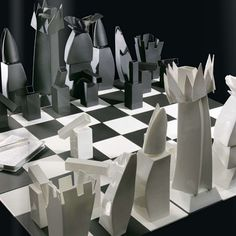 Chess set created for Tiffany & Co. by architect Frank Gehry is priced at $25,000 (the equivalent of two months' rent for a 3BR @ his 8 Spruce Street tower in NYC)