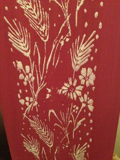 Patterned Paint Roller 'Wild Garden' by Quaint County Louth