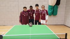 Well done to the boys' U19A Table Tennis team who won the county tournament last week, as well as our B team who came second. This means that the A team move on to the Zonal rounds after Christmas.