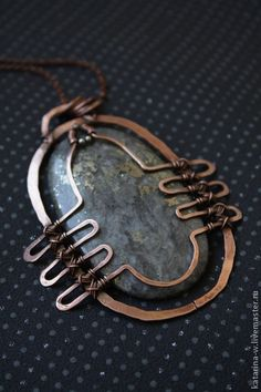 """Scarab"" Pendant, several views on the site, unfortunately no back view. I'm guessing the row of wires in the side closest to the stone cross the back. Кулоны, подвески ручной работы. Ярмарка Мастеров - ручная работа ""Скарабей"" Кулон. Handmade."