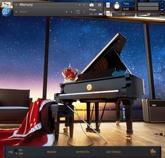 Mercury is a piano sample library for Kontakt Player recorded at Metropolis Studios in London featuring a Fazioli F228.