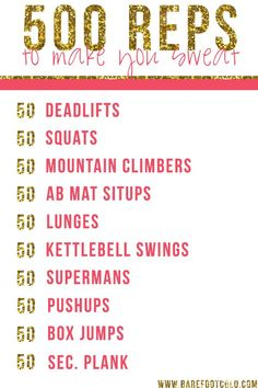 A quick workout that takes less than 30 minutes. Get moving with this simple!