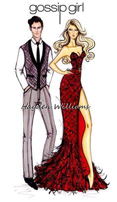 Gossip Girl by Hayden Williams: Dan & Serena