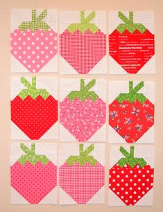 strawberry social quilt by grey dogwood studio