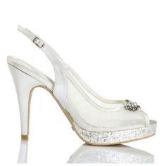 Zapatos de Novia Peep Toe destalonado modelo Bambalina de Menbur ➡️ #LosZapatosdetuBoda #Boda