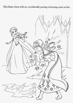 Elsa Freeze Coloring Page 07