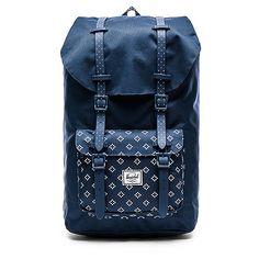 Herschel Supply Co. Little America Bags (£66) ❤ liked on Polyvore featuring bags, handbags, pocket purse, blue handbags, zipper purse, flap handbags and padded laptop bag