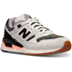 New Balance Women's 530 Midnight Blooms Casual Sneakers from Finish... ($100) ❤ liked on Polyvore featuring shoes, sneakers, white, new balance shoes, new balance, new balance sneakers, lightweight shoes and white sneakers