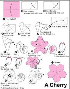 Another origami cherry blossom (sakura) pattern. Another origami cherry blossom (sakura) pattern. Kimono Origami, Instruções Origami, Origami Wedding, Origami Dragon, Useful Origami, Paper Crafts Origami, Origami Tattoo, Heart Origami, Simple Origami