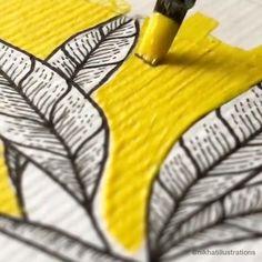 Watercolor Flowers Tutorial, Watercolor Art, Jobs In Art, Mandala Artwork, Art N Craft, Painting Gallery, Diy Canvas Art, Gouache Painting, Website Link