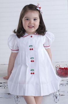 Sewing Issue Cherry Dress By Laurie Anderson Machine Embroidery Design Issue Little Rabbit Vestee Jacket: Girl's Version with Flower Appliqu. Kids Frocks, Frocks For Girls, Dresses Kids Girl, Kids Outfits, Baby Dresses, Baby Dress Design, Frock Design, Fashion Kids, Fashion 2016