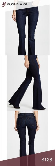 Frame Le High Flare Dunfield jeans Long Tall SZ 24 Frame Le High Flare Dunfield dark blue wash Womens jeans Long Tall SZ 24 STYLE # 98800 LHF032 Frame Denim Jeans Flare & Wide Leg