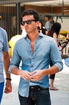 46 Best Denim Shirts Images Man Fashion Man Style Male Fashion