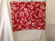 Pillowcases Pillow Shams Red White Floral Two Standard Size #RoomEssentials #Cottage
