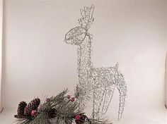 Metal Reindeer perfect for inside or outside holiday decor!