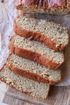 Grain-Free Almond Butter Banana Bread made with almond flour and pure maple syrup. Gluten-free, paleo friendly, and healthy!