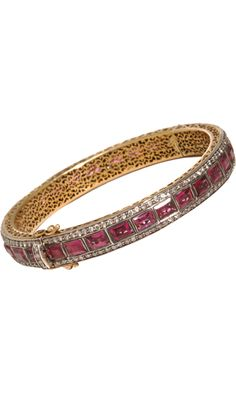 Munnu Pink Tourmaline & Diamond Bangle    Details  Share    Add to My Favorites