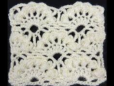 Crochet : Punto Abanico Puff en Relieve - YouTube