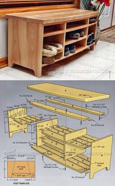 Storage Bench Plans - Furniture Plans and Projects | WoodArchivist.com