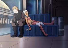 SW - Anakin and Ahsoka again by Renny08 on deviantART - Words cannot describe how much I love this picture.
