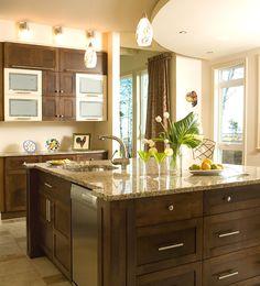 armoires Decoration, Kitchen Island, Manon, Home Decor, Ideas, Kitchen Armoire, Contemporary Kitchen Cabinets, Contemporary Kitchens, Contemporary Style