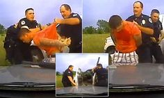 Oklahoma... Dashcam captures Oklahoma officer hitting suspect with gun | Daily Mail Online