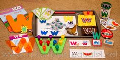 Ww is for Walrus printables