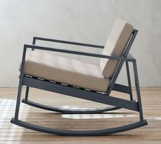 Embrace the beauty of the great outdoors with our Indio Collection. The modern look is perfectly balanced with a chic slatted design for effortless casual style. It's built on a smaller scale so you can entertain anywhere, even a townhous Modern Outdoor Rocking Chairs, Metal Rocking Chair, Metal Outdoor Chairs, Adirondack Rocking Chair, Rocking Chair Cushions, Metal Chairs, Outdoor Metal Furniture, Iron Furniture, Art Deco Furniture