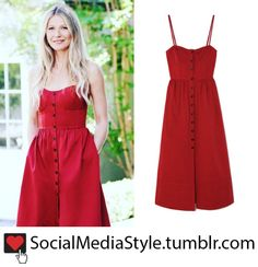 Buy Gwyneth Paltrow's G. Label Red Button Up Dress, here!