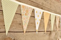 Morning Sun- Vintage Bunting Banner with 12 Flags. $22.00, via Etsy.