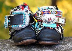 Upcycled REWORKED vintage luxury boho tribal COWBOY BOOTS 7 - 8 ready to ship. $185.00, via Etsy.