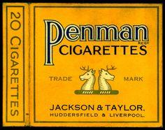 "Jackson & Taylor of Huddersfield & Liverpool ""Penman"" Cigarettes ~ hull only,"