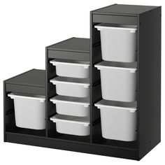 IKEA - TROFAST, Storage combination, , A playful and sturdy storage series for storing and organizing toys, sitting, playing, and relaxing.The frame has several grooves, so you can place boxes and shelves where you want them, and change them any time.Low storage makes it easier for children to reach and organize their things.
