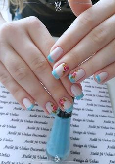 40 Very impressive collection of nails 2018 - Reny styles Cute Nails, Pretty Nails, Fashion Nail Art, Nails 2018, Manicure Y Pedicure, Cookies Et Biscuits, Nail Arts, Spring Nails, Craft Videos