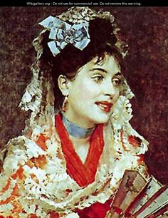 Portrait of Lady with fan - Raimundo de Madrazo y Garreta