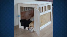 Build A Pet Kennel That Doubles As An End Table