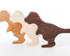 Dinosaurier Holz Rassel / / ein ökologisch von manzanitakids