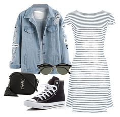 """Untitled #57"" by oppyputri on Polyvore featuring New Look, Converse, Ray-Ban and Yves Saint Laurent"