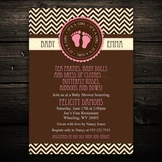 Mod Chevron Print Brown Printable Baby by LittleBeesGraphics, $12.99