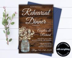 Hey, I found this really awesome Etsy listing at https://www.etsy.com/listing/516363856/rustic-wedding-rehearsal-dinner