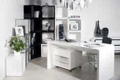 Design White Club Schreibtisch 180cm Hochglanz Weiß: