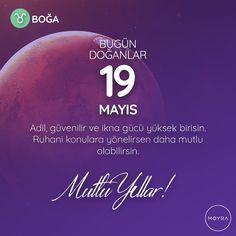 🎂19 Mayıs doğumlu olan tüm Boğa'lara mutlu yıllar! 🎆 #moyra  #moyrabilir #astroloji  #bogaburcu  #boga  #burclar #burc  #zodyak