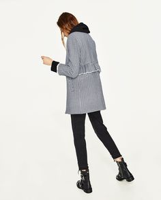 GINGHAM CHECK COAT WITH FRILL
