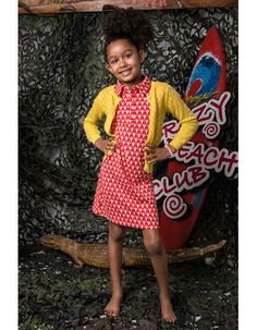 Someone Kids - Coral polo dress with parrots - Pepatino.be