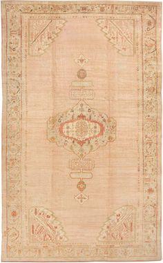 Antique Angora Oushak Turkish Rug