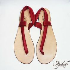 7be1f0c30488 Bridget Sandals of Jamaica Cutaway Thong in Red